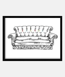 Central Perk sofa cuadro