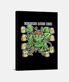 cerveza y alien
