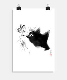 chat curieux