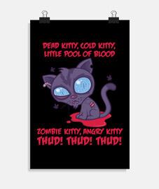 chaton de zombie en colère froid froid