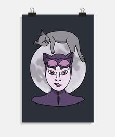 chats amoureux de la lune (sans fond)
