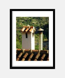 cheminées et le toit