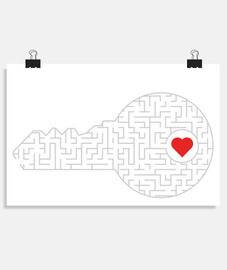 chiave per il tuo cuore (argento)
