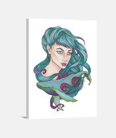 Chica con ballena