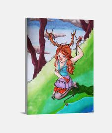 Chica Reno, lienzo (30 x 40 cm)