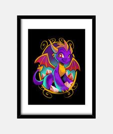 childhood dragon print