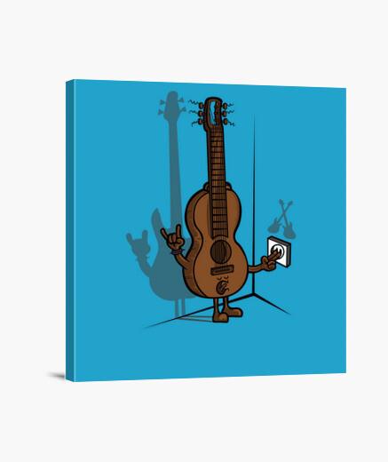 Stampa su tela chitarra elettrica