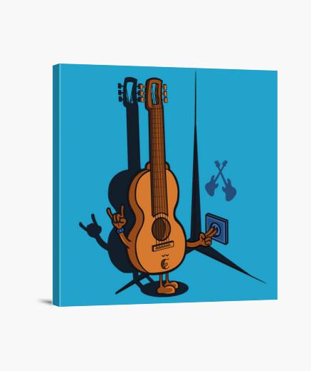 Stampa su tela chitarra elettrica 1
