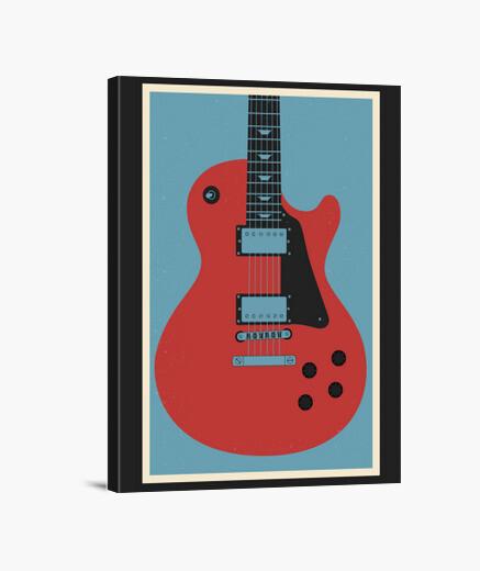 Stampa su tela chitarra lp