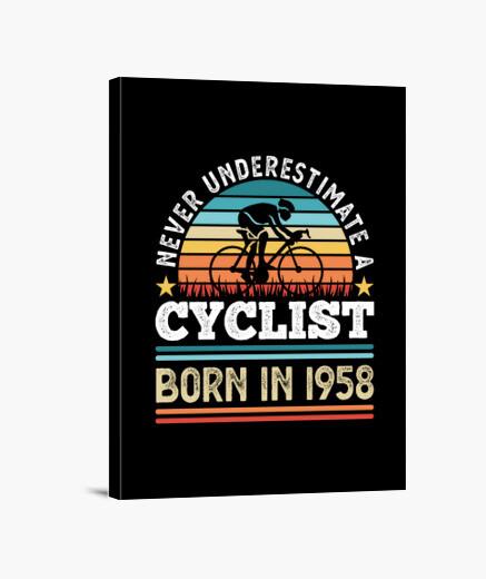 Lienzo ciclista nacido en 1958 regalo de...