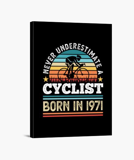 Lienzo ciclista nacido en 1971 50...