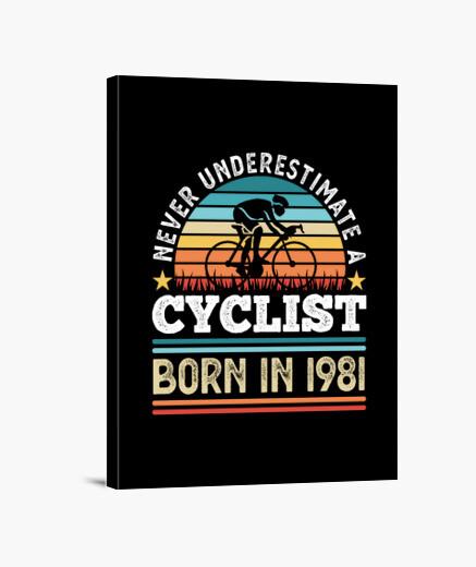 Lienzo ciclista nacido en 1981 40...