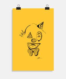 Clown triste - poster