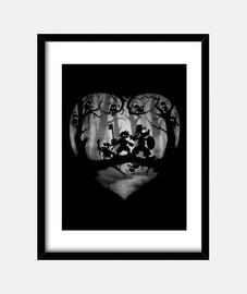 coeurs limbo cadre vertical 3: 4 (30 x 40 cm)
