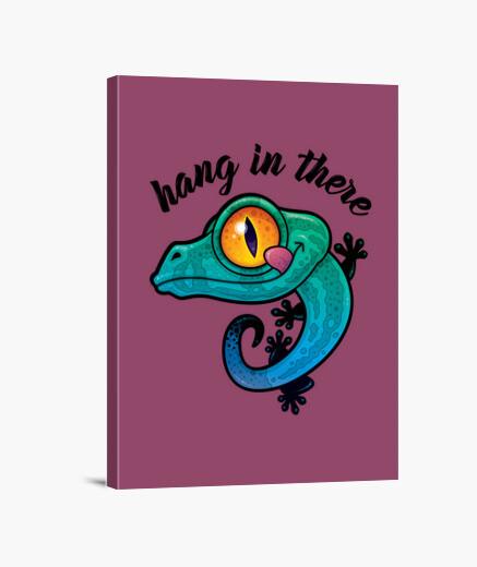 Lienzo colgar allí gecko colorido