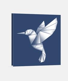 Colibrí origami lienzo