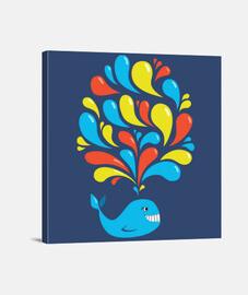 colorido remolino feliz dibujos animado
