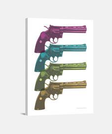 Colt Python PopArt Colours cuadro