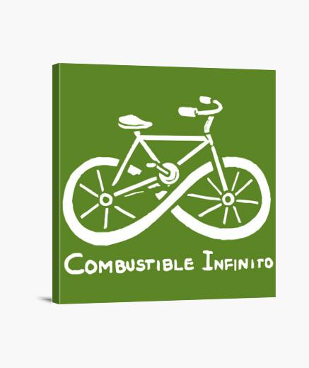 Lienzo Combustible infinito bicicleta...