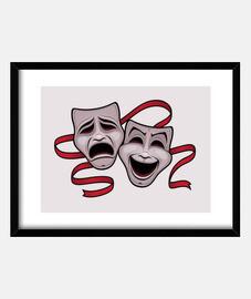comédie et tragédie masques de théâtre