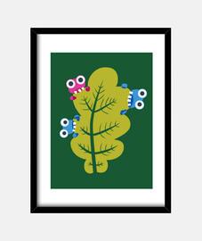 comen insectos lindos hoja verde