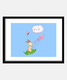 Conejito Volador con Cometa