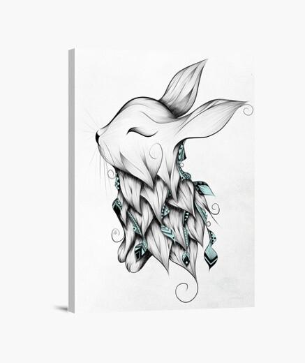 Lienzo conejo poética
