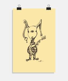 coniglio mostruoso - poster