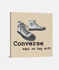 Converse Lienzo Cuadrado 1:1 - (40 x 40 cm)