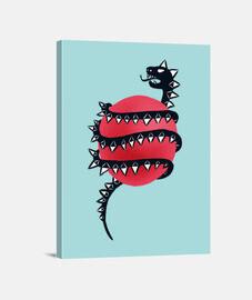 coole böse Drachenschlange