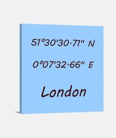 Coordenadas London 1:1 - (40 x 40 cm)