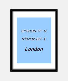 Coordenadas London 3:4 (15 x 20 cm)
