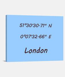 Coordenadas London 4:3 - (40 x 30 cm)