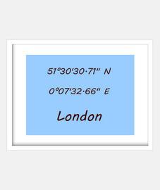 Coordenadas London 4:3 (20 x 15 cm)