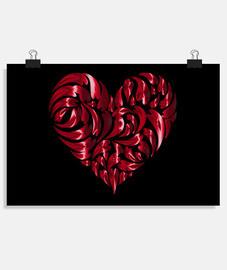 Corazón abstracto