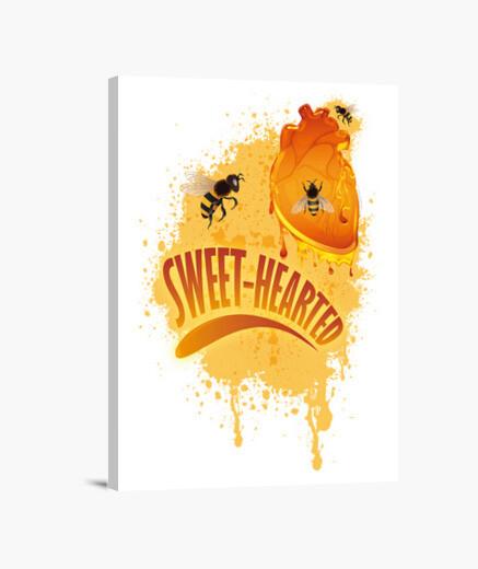 Lienzo Corazón dulce (de miel)