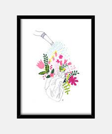Corazón en flor