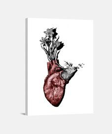 Corazón flores y ciervo