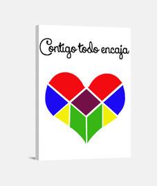 Corazón tangram