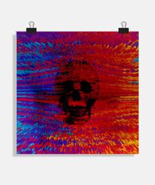 crâne coloré
