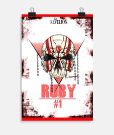 crâne de rubis - affiche