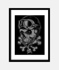 crâne motard