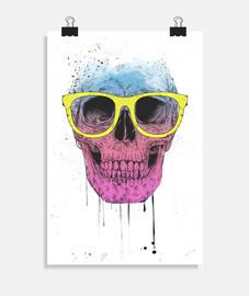 crâne pop art avec g les SES