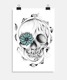cráneo de madera poética