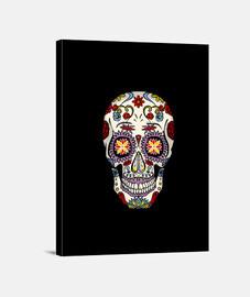 cráneo estampado mexicano