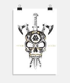 crânes vikings et armes