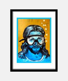 Cristo bajo el mar