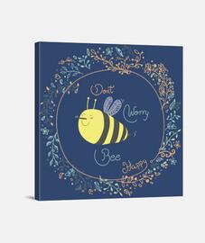 cuadro Bee happy