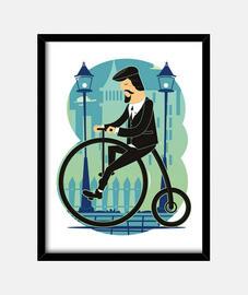Cuadro Ciclistas Bicicletas Ciclismo