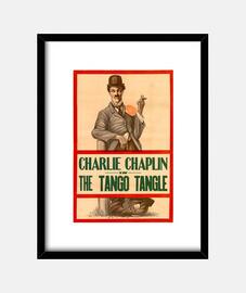 Cuadro con Cartel de la Película de Chaplin Tango Tangle de 1914